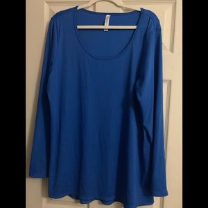Plus size 3xl lynnae top royal blue new no tag